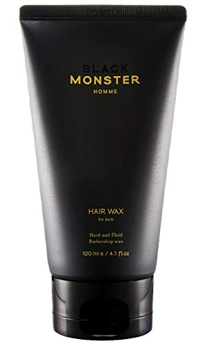BLACK MONSTER Hair Wax, Strong Hold and Matte Finish Pomade for Men Hairstyles, 4.1 Ounce