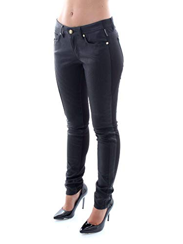 Nero Pantaloni Donna Jeans hqj00 hsb015 Versace A1 8wqSzYnUC