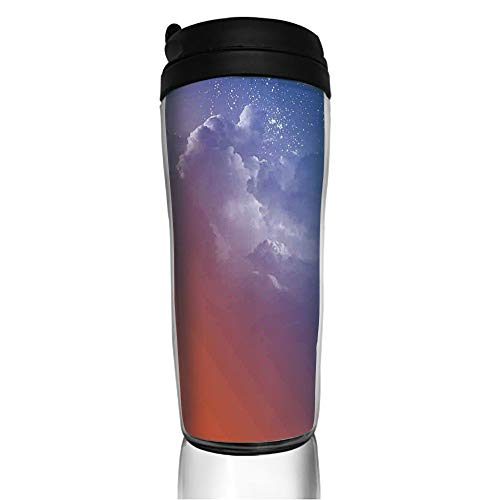 Stainless Steel Insulated Coffee Travel Mug,Clouds Cycle of the Galaxy Sacred Movement Macrocosm,Spill Proof Flip Lid Insulated Coffee cup Keeps Hot or Cold 11.8oz(350 ml) Customizable ()