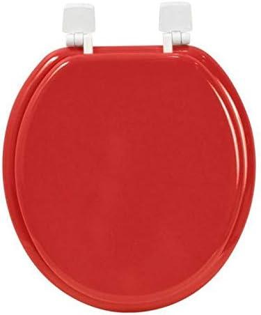 FRANDIS 191404 Abattant WC Charni/ère Plastique Rouge//Blanc 37,5 x 46 x 5,5 cm