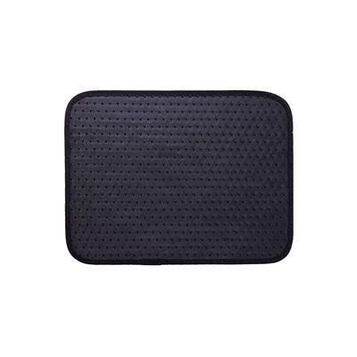 ADECO FL0118 Set of 4-Piece Car Vehicle Carpet Floor Mat Set - Universal Fit,Black Color