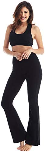 Viosi Yoga Pants for Women Bootcut Fold Over High Waisted Cotton Spandex Lounge Workout Flare Leggings 1