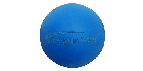 Ergonflow Deep Tissue Massage Lacrosse Ball - High Density Material for Myofascial and Trigger Point Release - Massage Tension and Pain ()