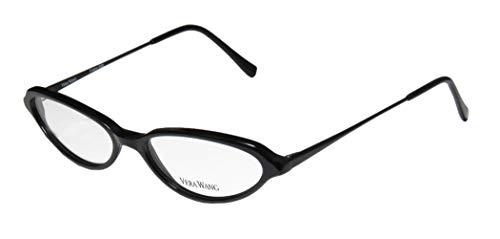 Vera Wang V47 Womens/Ladies Cat Eye Full-rim Stunning Made In Italy Eyeglasses/Eyeglass Frame (52-15-135, Black)