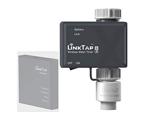 LinkTap G2 Wireless Water Timer Add-on – Remote Hose Timer for Lawns & Gardens – Cloud Controlled Watering with Real-Time Fault Detection & Notifications – Easy-Install, App & Smart Assistant Enabled