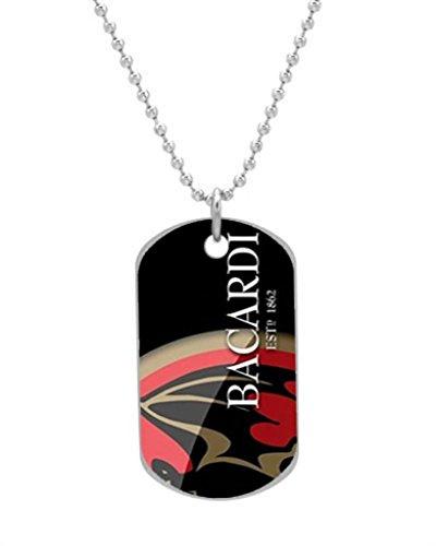 bacardi-rum-drinks-logo-custom-aluminum-dog-tag-necklace-oval-design-large-size-animal-pet-cat-tag