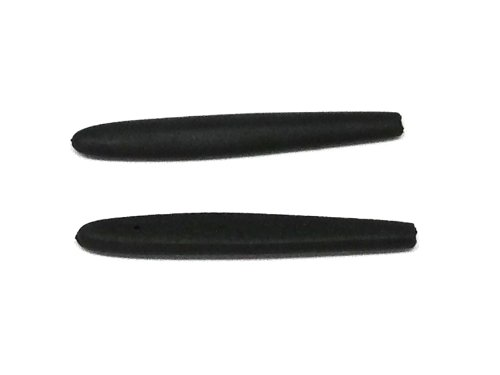 Black Rubber Replacement Temple Tips for Parole or Vigilante Sunglasses by - A Parts Of Temple