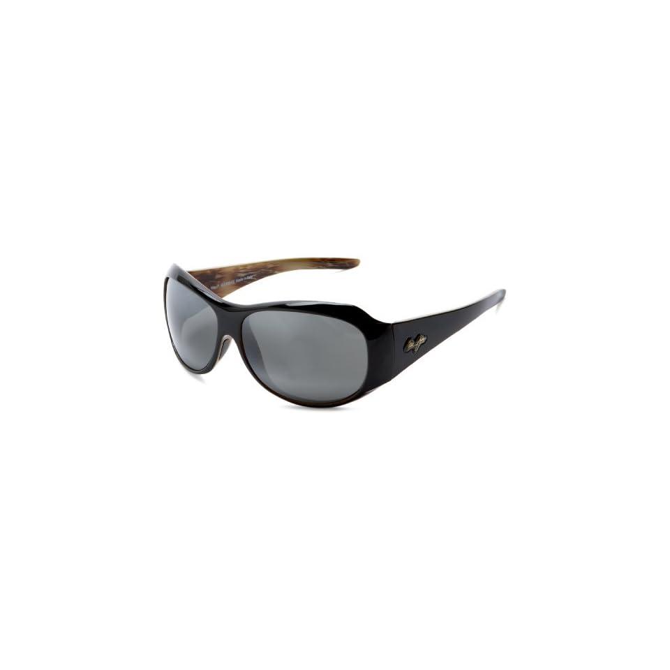 Maui Jim 203 02 Black Lehua Round Sunglasses Polarised