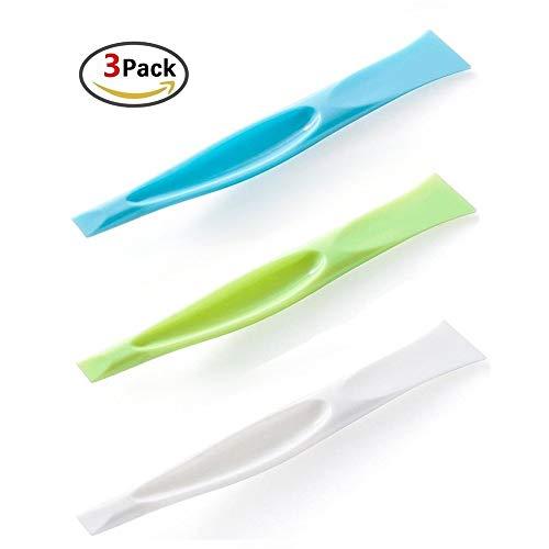 3 Pack Cleaning Scraper Tool Kitchen Plastic Scraper Multipurpose Stiff Grill Scraper Scratch Free Cleaning Tool Label Scraper Gum Scraper Bottle Opener Can Opener