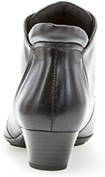 Gabor Damen Schnürstiefelette 95.631,Frauen Stiefel,Boots,Halbstiefel,Schnürboots,Bootie,hoch,Blockabsatz 3.5cm,F Weite (Normal),schwarz,UK 6