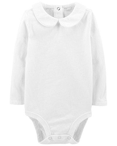 OshKosh B'Gosh Baby Girl's Bodysuits  White  9-12 Months (Onesie Sleeve Long Oshkosh)