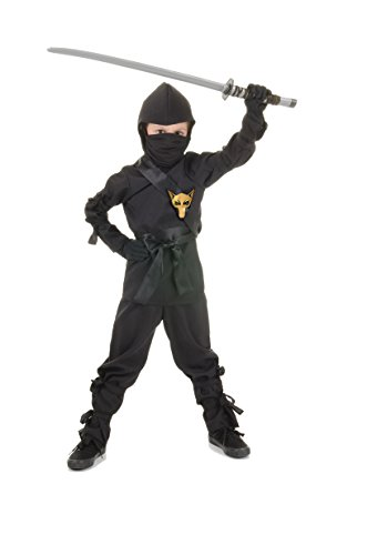 Underwraps Children's Ninja Costume, Black, -