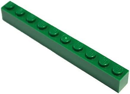 LEGO Parts and Pieces: Green 1x10 Brick x10