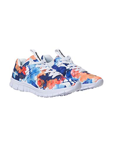 running Shoes Blanc Desigual Sneakers Camo Flower blanco Femme 1000 Basses 56xqwdw