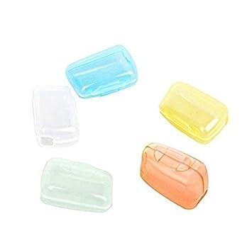 5 tapas protectoras para cepillos de dientes, para viaje, senderismo, acampada: Amazon.es: Hogar