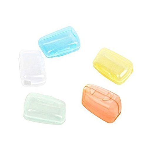 Ouken 5Pcs Travel Portable Toothbrush Head Covers Case Protective Preventing Molar