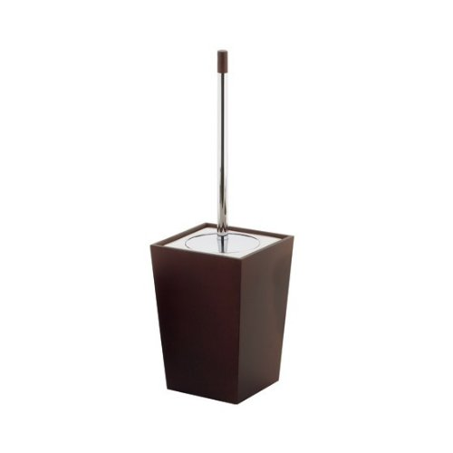 Gedy Kyoto Square Wood Toilet Brush Holder, Tanganyika
