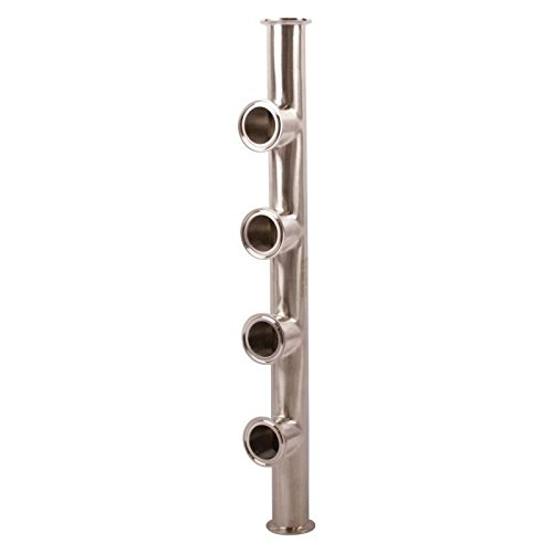 Manifold | Tri Clamp 1.5 inch x 4 Port - Stainless Steel SS304 / 3A - Glacier Tanks