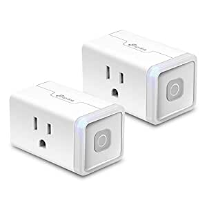 Kasa Smart WiFi Plug Lite by TP-Link (2-Pack) -10 Amp & Reliable Wifi Connection, Compact Design, No Hub Required, Works With Alexa Echo & Google Assistant (HS103P2)