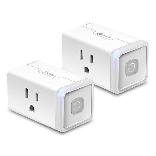Kasa Smart WiFi Plug Lite by TP-Link (2-Pack) -12 Amp & Reliable Wifi Connection, Compact Design, No Hub Required, Works With Alexa Echo & Google Assistant (HS103P2) ()