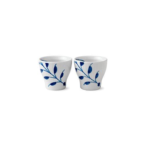 - Royal Copenhagen Blue Fluted Mega Egg Cup, Set Of 2