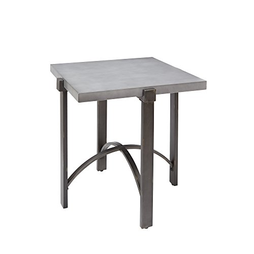 Silverwood FT1276-ACC-SCC Lewis End Table with Square Concrete Finish Top, 23.75