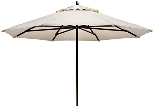 - Telescope Casual Furniture Commercial Outdoor Market 11' Round Umbrella, Aged Bronze Frame, Lime Fabric