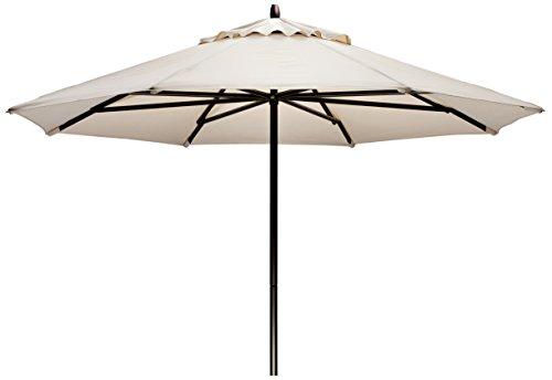 Telescope Casual Furniture Commercial Outdoor Market 11' Round Umbrella, Textured Graphite Frame, Cobalt Fabric