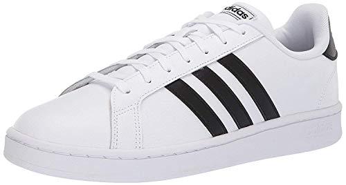 adidas mens Grand Court Sneaker, White/Black/White, 5 US