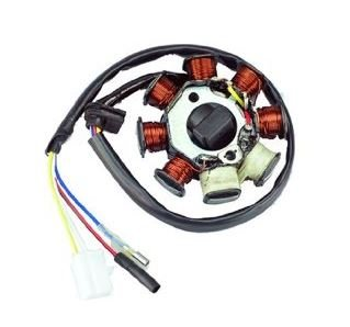 IGNITION STATOR MAGNETO 8 COIL GY6 SCOOTER ATV GOKART JONWAY BAJA TAO TAO 5 WIRES