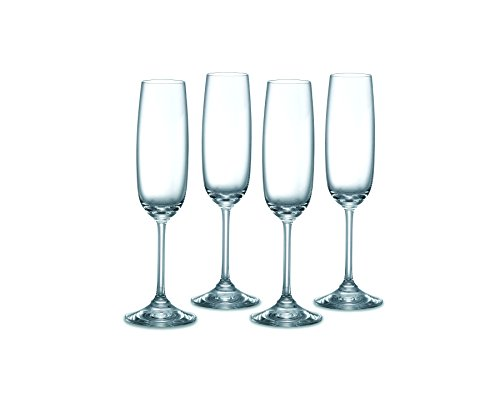 (Waterford 100636M Vintage Entertainment Collection Flute Glasses, 6 ounces, Clear)