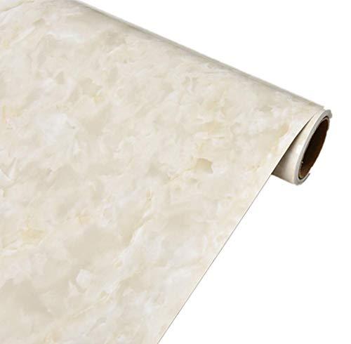 Emoyi Beige Granite Look Marble Effect Wallpaper Film Vinyl Wall Stickers Peel-Stick Murals Counter Top 15.6''x79''