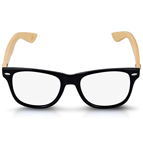 Brille ohne Stärke Retro Damen Herren 50er Nerd Computer Brille Anti Blaulicht