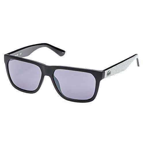 Lacoste L732S Wayfarer Sunglasses, Black/Grey, 56 ()