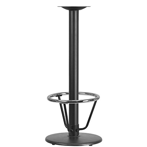 Flash Furniture 18'' Round Restaurant Table Base with 3'' Dia. Bar Height Column and Foot Ring