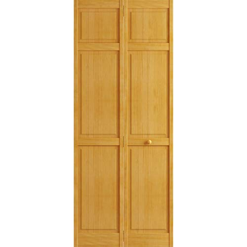 Kimberly Bay Traditional Six Panel Golden Oak Solid Core Wood Bi-fold Door (80x24)