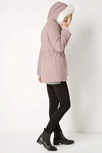 Faux Originals Coat Taille Roman Fur 44 Hood Microfibre Rose AUMqxg