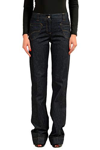 - Dolce & Gabbana Women's Dark Blue Denim Casual Pants US 4 IT 40
