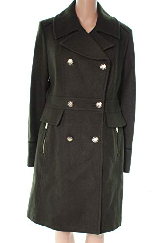 Vince Camuto Women's Twill Peacoat L8201 Olive Large