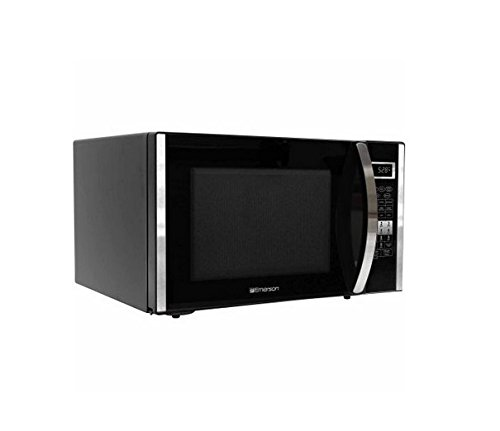 Emerson FT. 1000W Microwave with Touch Countertop, Stainless and Black Cabinet,