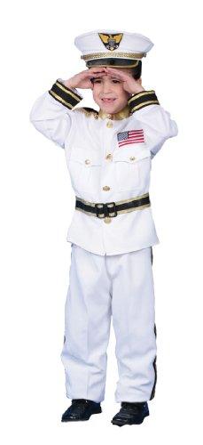 Navy Admiral Costume - Child Costume deluxe - Medium (Deluxe Kid's Navy Admiral Costumes)