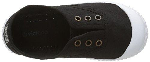 victoria Unisex-Kinder Inglesa Lona Tintada Punt Sneaker Noir (10 Negro)