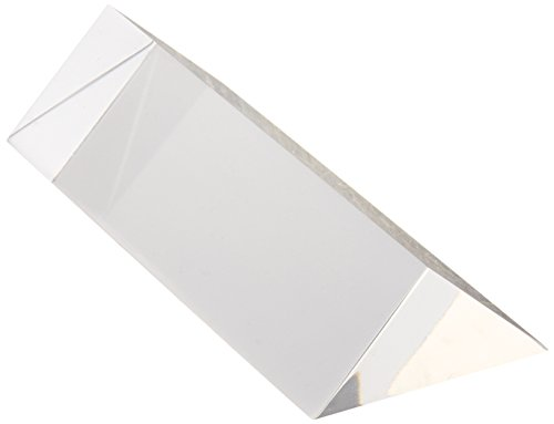 United Scientific PAR100 Acrylic Right Angle Prism, 100mm Length, 25mm Right Angle Side, 35mm Hypotenuse