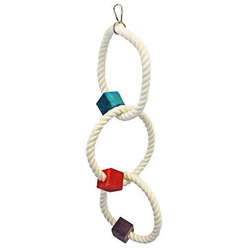 Exotic Nutrition Tri-Hoop - Small Animal Toy & Cage Accessory - Sugar Glider, Marmoset, Bird, Squirrel, and Other Small Animals