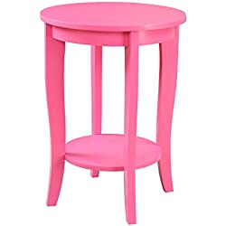 Convenience Concepts American Heritage Round Table, Pink