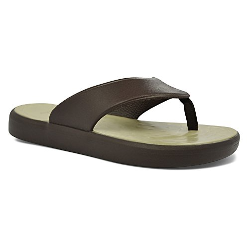 SoftScience Mens Skiff EVA Flip Flop Chocolate/Khaki