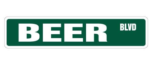 (BEER Street Sign new lover drinker road funny | Indoor/Outdoor | 18