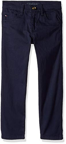 Tommy Hilfiger Little Boys' 5 Pocket Trent Twill Pant, Swim Navy, 5