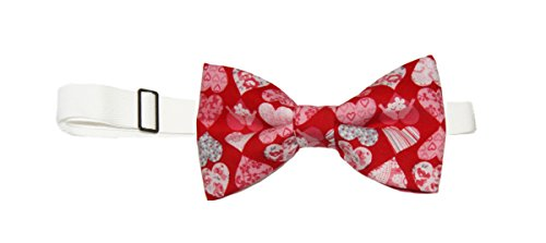 Mens Holiday Dots Pre-Tied Cotton Bow Tie On Adjustable Twill Strap