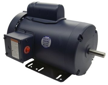 2 hp 3450 RPM 56H Frame TEFC 115/208-230V w/Overload Protection Leeson Electric Motor #110402 by Leeson